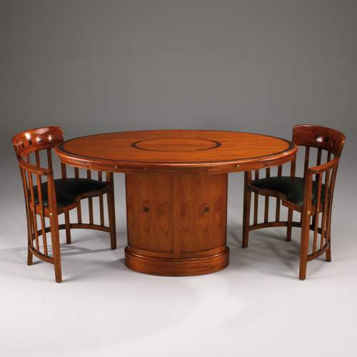 Oval dining table Esstisch Mahgoni Kirsch