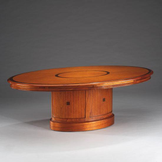 Ovaler Coffee Table sofatisch Mahagoni Kirsch