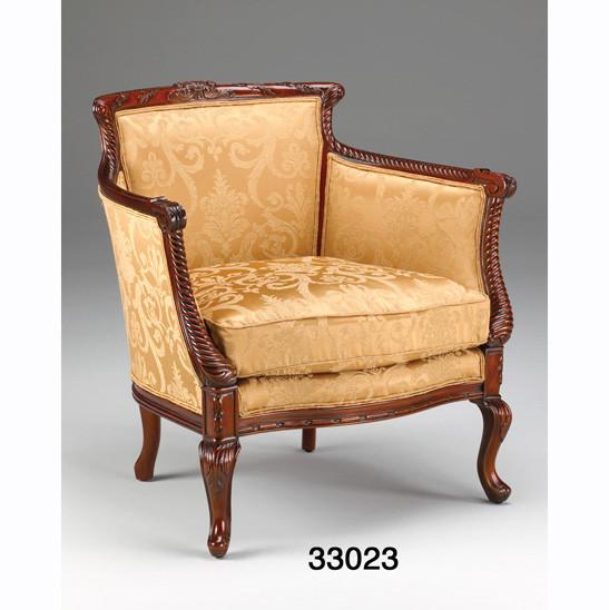 Edler Barrel Back Arm Chair Sessel Antiker Sessel Barock