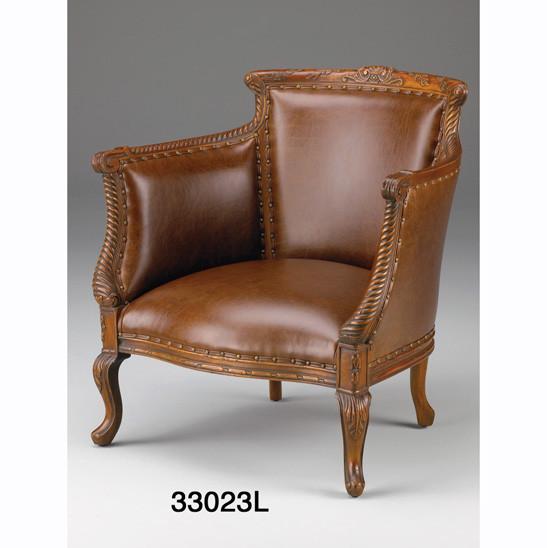 Antiker Barrel Back Arm Chair Sessel Antiksessel aus Leder