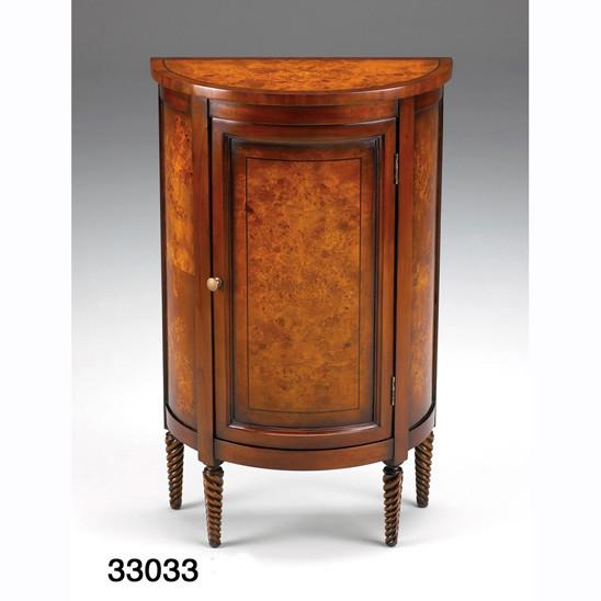 Half Round Side Cabinet Burl