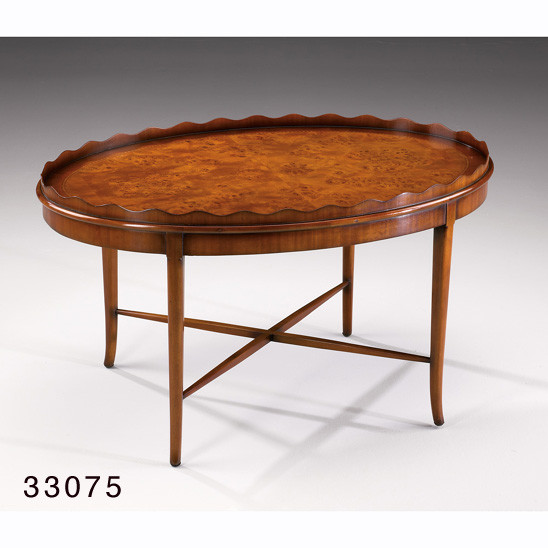 """Large Coffee Table Oval Burl"" - englischer Tisch"