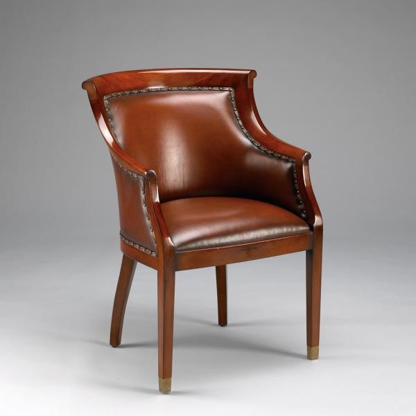 Club Chair With Leather