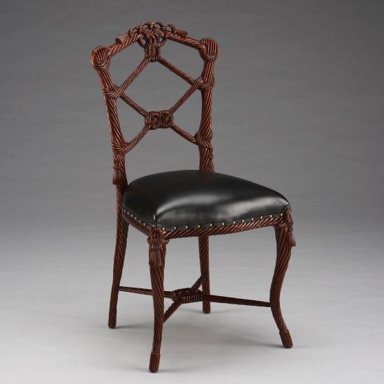 French Rope Chair with Leather