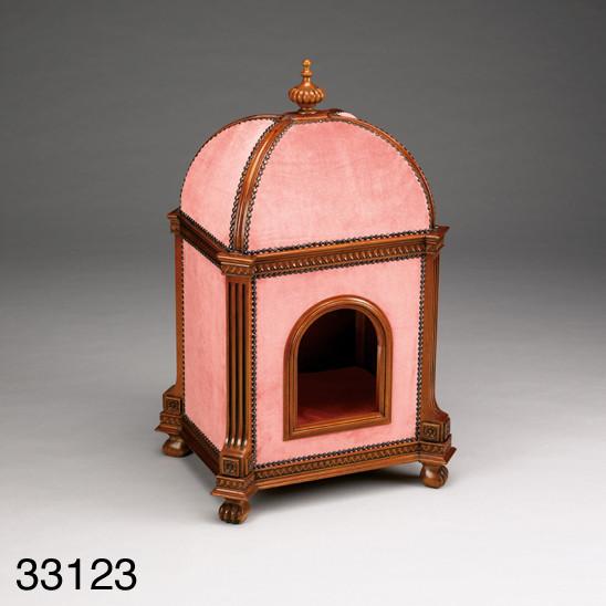 Außergewöhnliches Katzenhaus Katzenkorb Katzenhöhle aus Holz in Pink