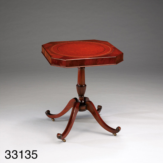 """Tripod Table With Leather"" - kleiner Tisch"