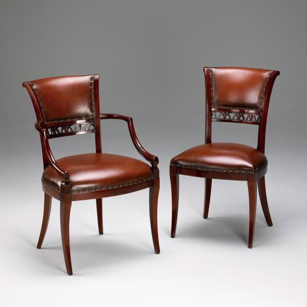 Elbow Side Chair With Leather Uph
