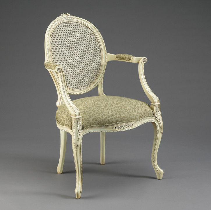Cameo Arm Chair Rattan Back