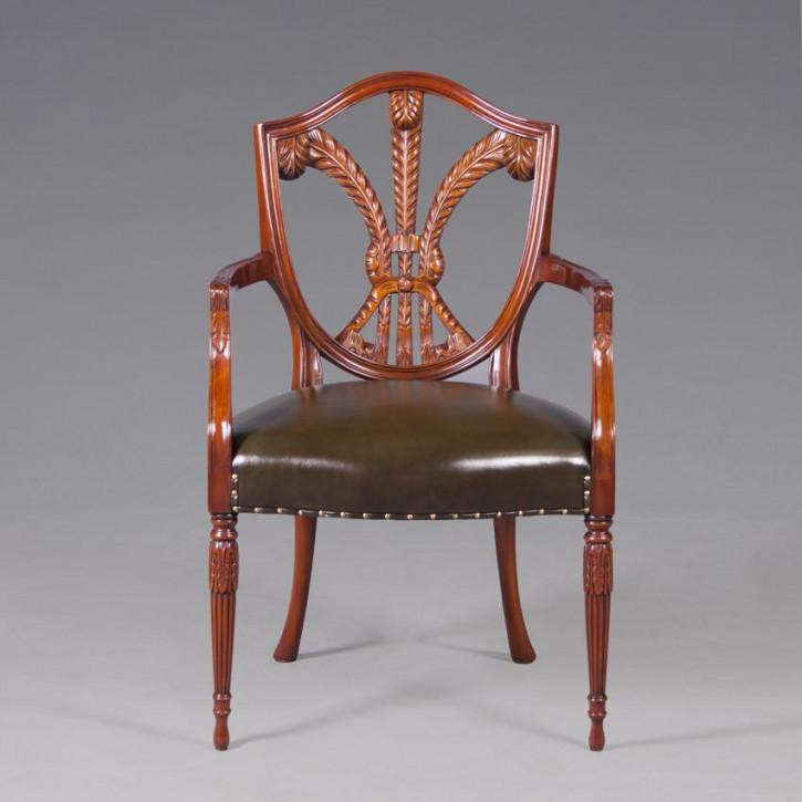 Pow Featherback Arm Chair Leder