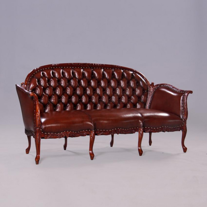 Sofa French Antoinette 3 Seater Echtleder