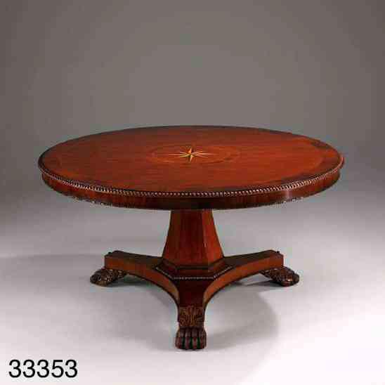 Esstisch Empire Round Base Table  Tisch Rund