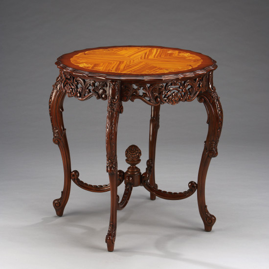 """French Inlaid Center Table"" - kleiner Tisch"