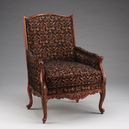 French Carved Bergere