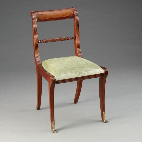 Regency Dining Sidechair Burl