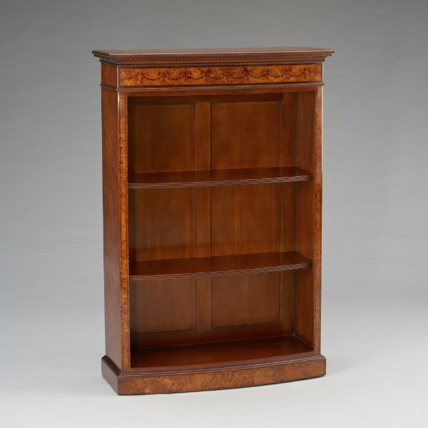 Bow fronted Bookcase Tall Burl mit LED