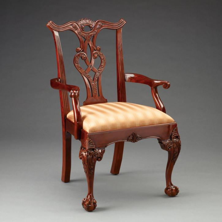 Chippendale Armlehnen Stuhl