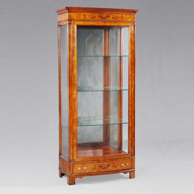 Glass Vitrine Burl mit LED