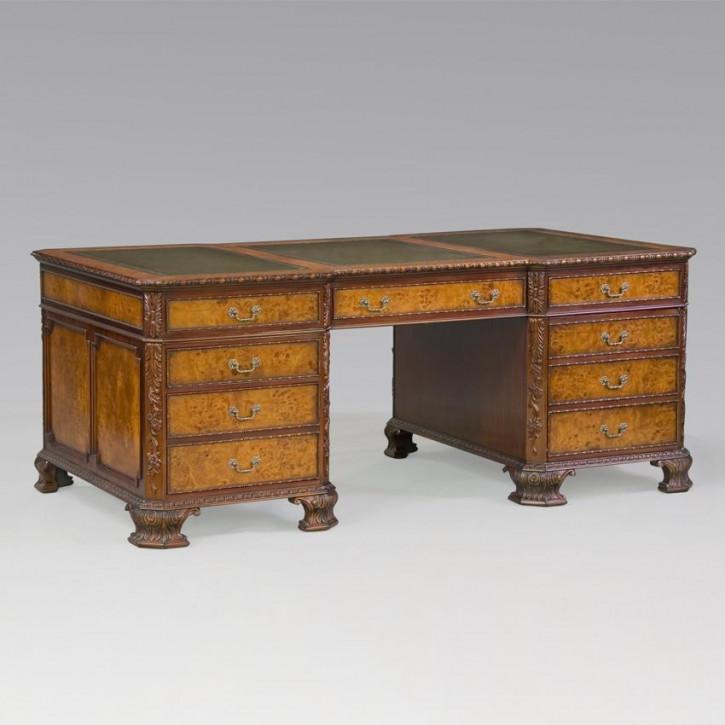 Erweiterter Partner-Schreibtisch George II