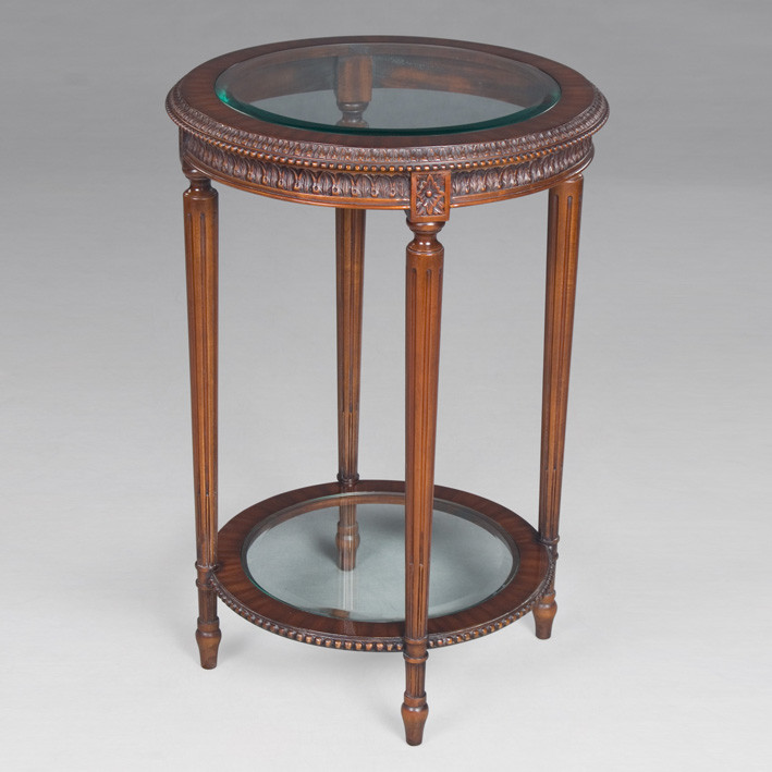 Side Table Philippe Glass Top and Glass Bottom