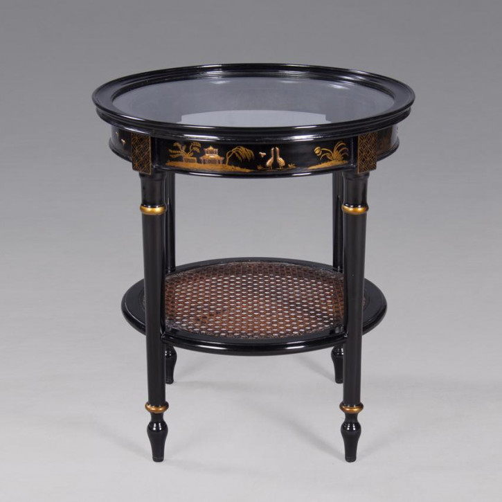 Chinoiserie Side Table Round