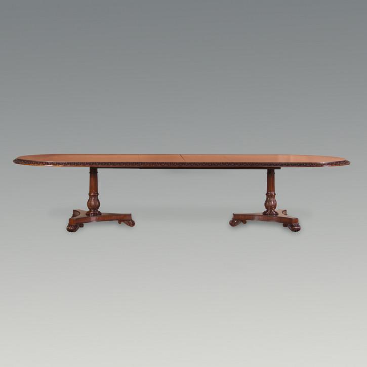Dining Table Corun, Two Pedestals