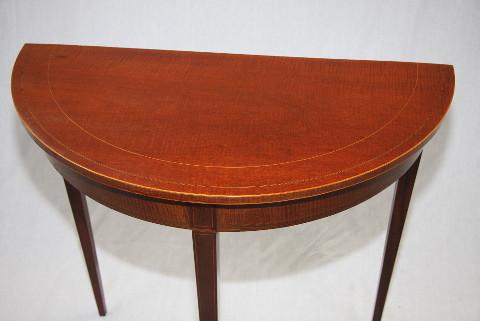 Demi Lune Table Edwardian