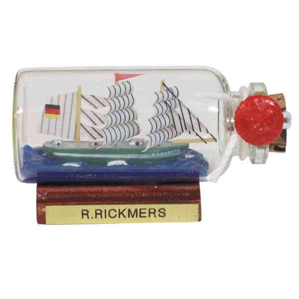 Flaschenschiff - Rickmer Rickmers, mini, L: 6cm