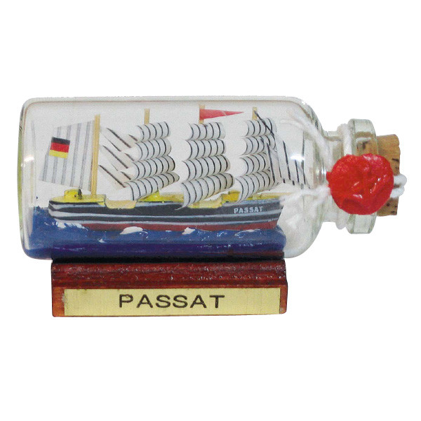 Flaschenschiff - Passat, mini, L: 6cm