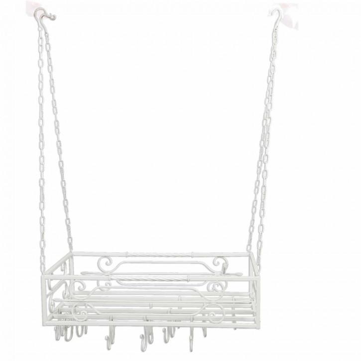 Küchenregal zum Aufhängen weiß 76*43*18 cm