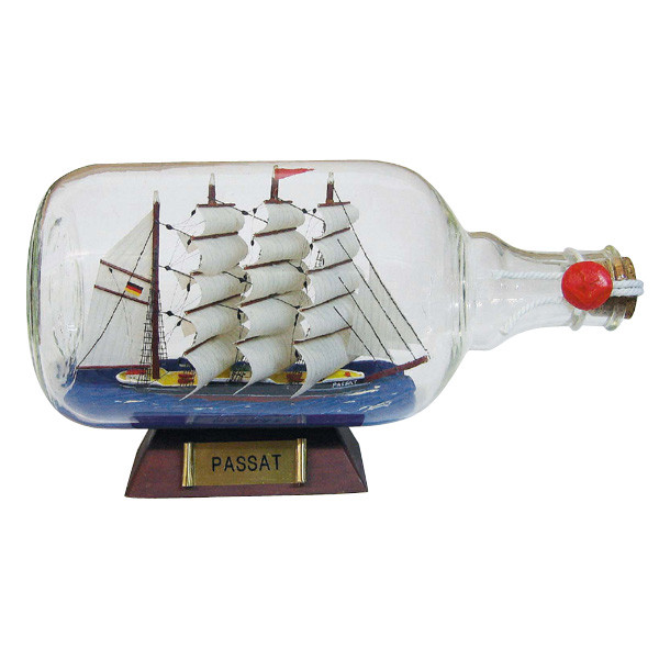 Flaschenschiff - Passat, L: 27,5cm, Ø: 10,5cm