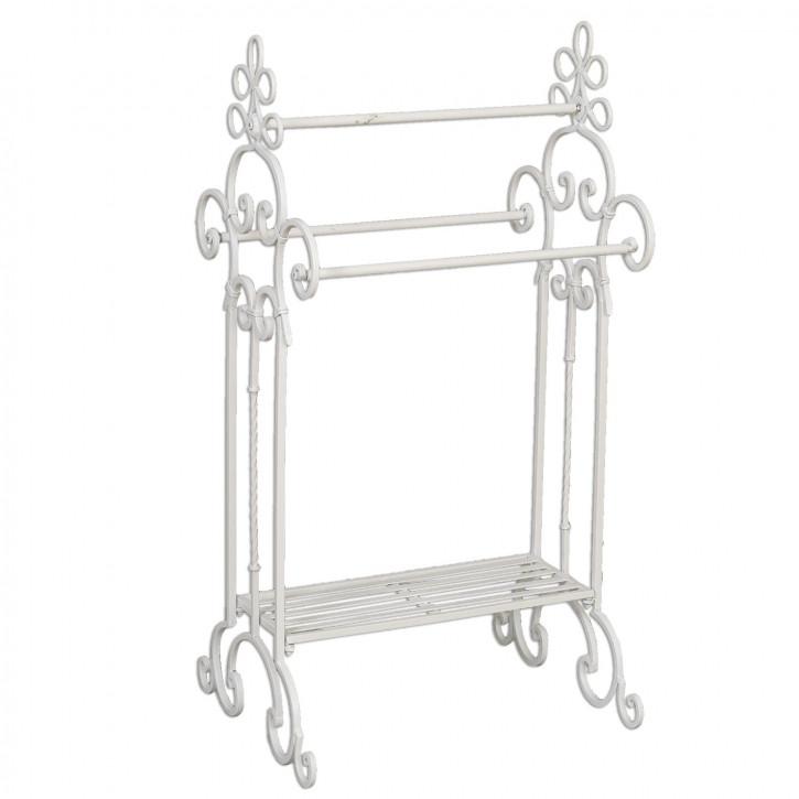 Gästetuchhalter aus Eisen weiß 45*41*91 cm