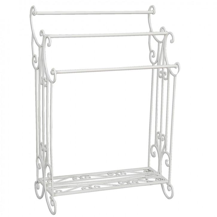 Gästetuchhalter aus Eisen weiß 61*33*92 cm