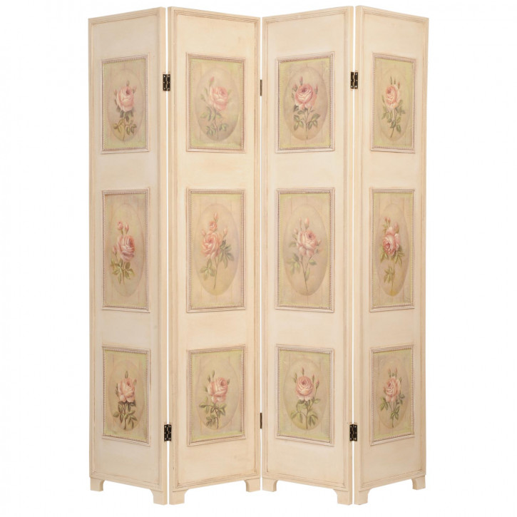 Raumteiler Paravent Blumen ca. 180 x 160 x 2,7 cm