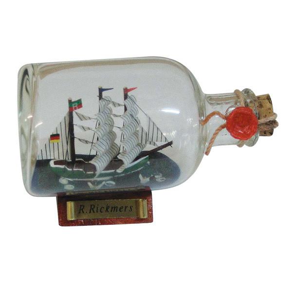 Flaschenschiff - Rickmer Rickmers, L: 9cm