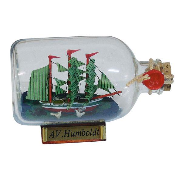 Flaschenschiff - Alexander von Humboldt, L: 9cm