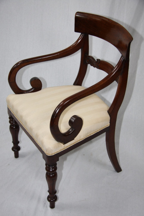 Victorian Armchair - Scroll back
