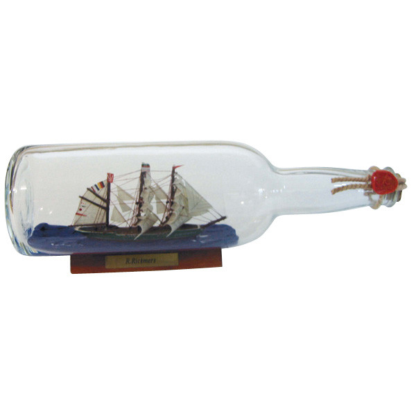 Flaschenschiff - Rickmer Rickmers, 0,7L., L: 29cm