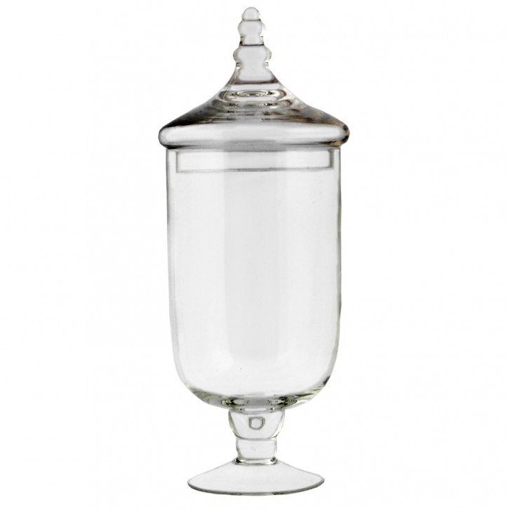 Vorratsglas Vorratsdose Schale Gefäß mit Deckel Glas ca. Ø 13 x 40 cm