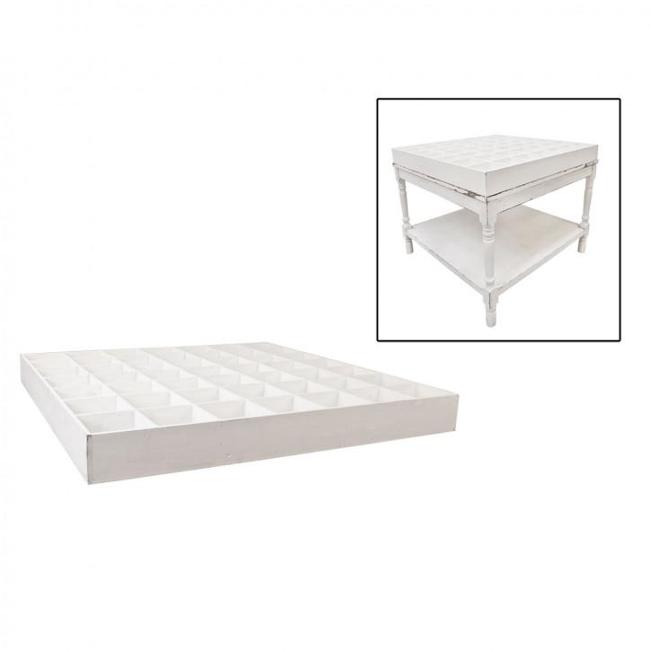 Tischaufsatz mit vielen Fächern weiß ca. 118 x 118 x 12 cm