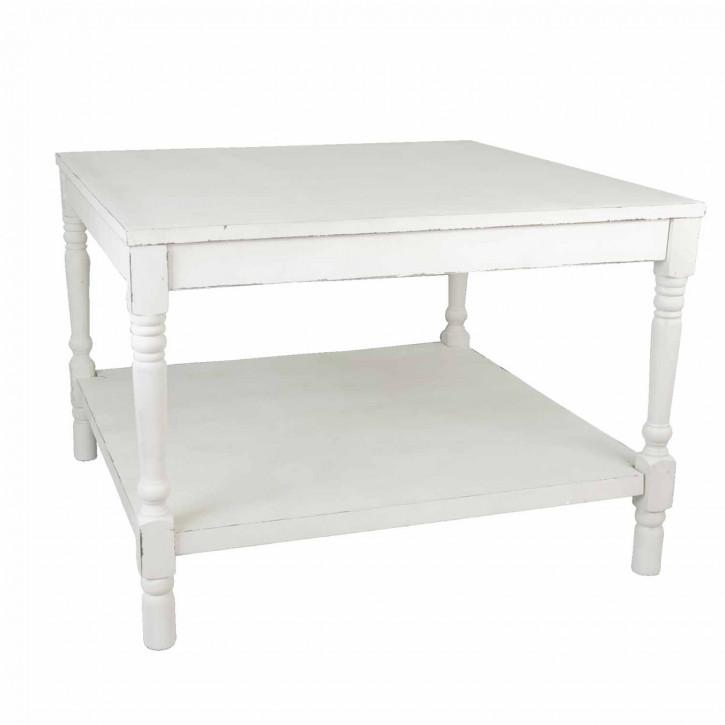 Praktischer Holztisch weiß