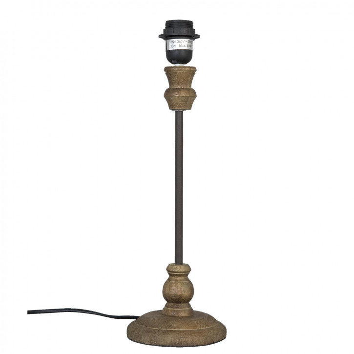 Tischlampe in Holzoptik Ø14