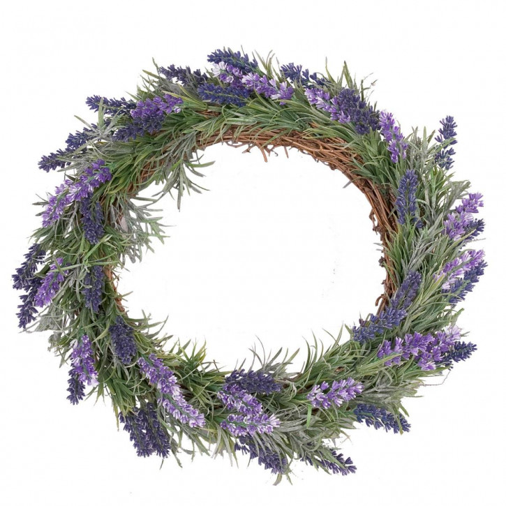 Schöner Lavendel Kranz