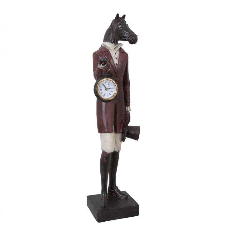 Figur Pferd mit Uhr