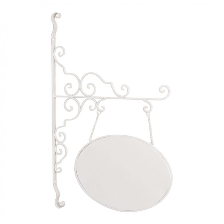 """Schild \""""Welcome\"""" aus Metall ca. weiß 44 x 67 cm"""