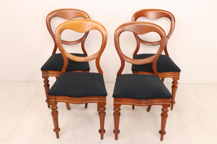 4 antike Stühle mit Balloon Backs, Mahagoni, englisch, ca. 1860