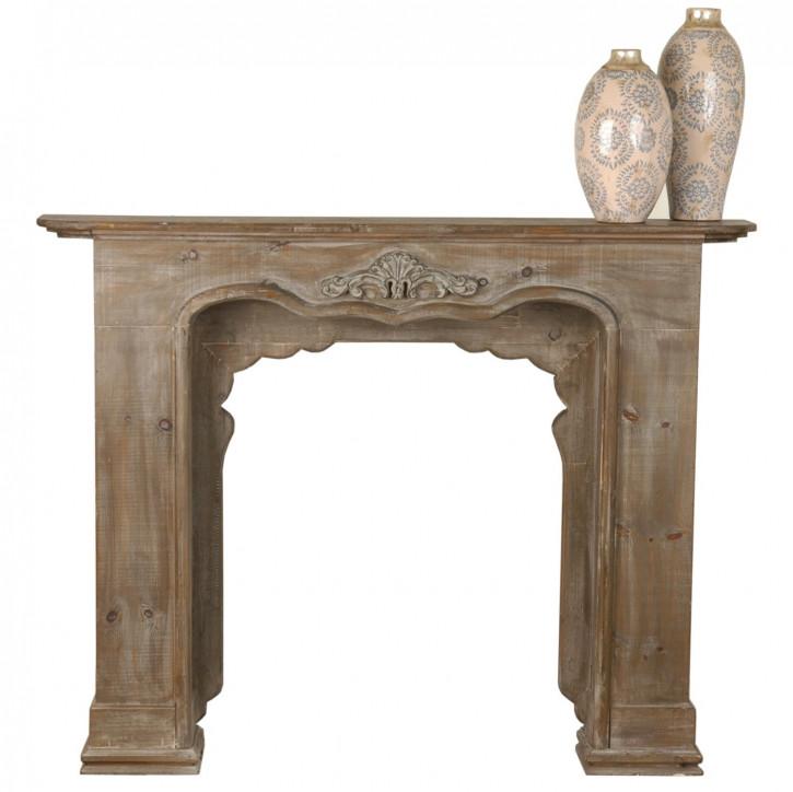 Kamin aus Holz 131*24*101 cm Natur