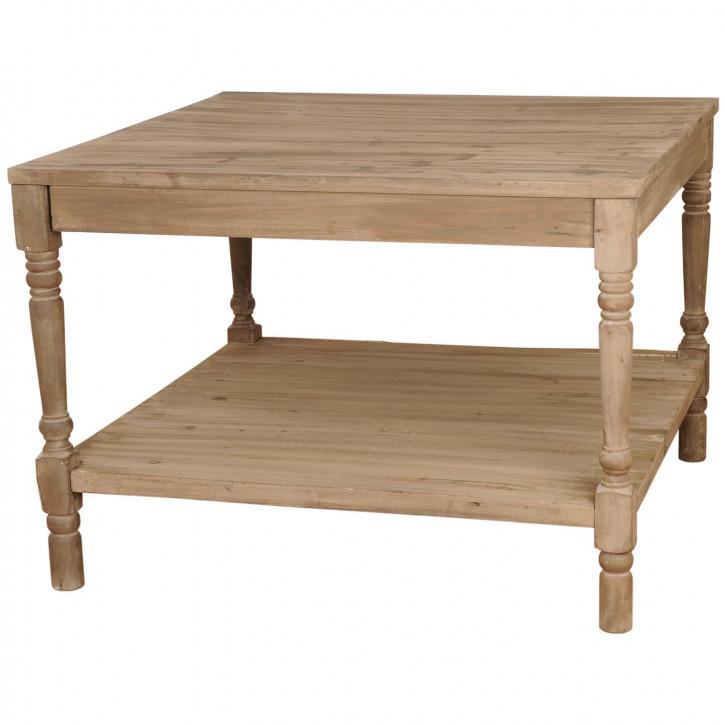 Praktischer Holztisch braun
