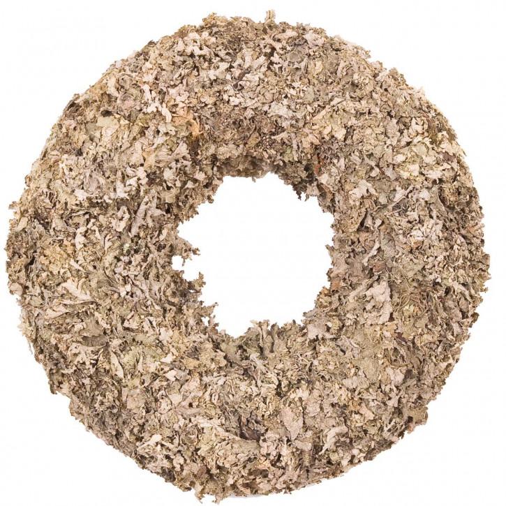 Kranz aus Naturholz mit Laubmotiv (2 Stk.)