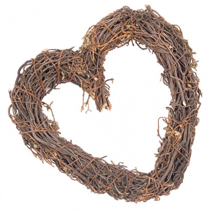 Holz Kranz Herz 22*21*3cm
