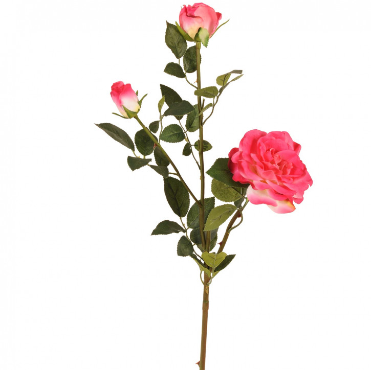 Deko Rose rosa rot 90cm